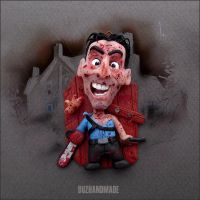 Evil Dead 2 - ASH Williams CLAY charm Horror Cult by buzhandmade