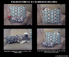 Knotted Pillows by Bottled-Rottweiler