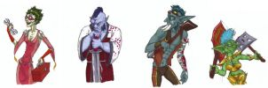 Warcraft Portraits in Markers 2 by angermuffin