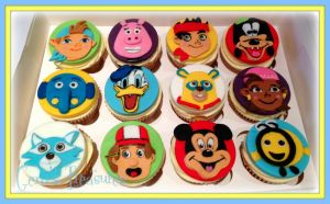 Disney Junior Cupcakes by gertygetsgangster