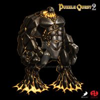 Puzzle Quest 2 - Iron Golem by Ashalind