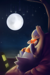 Moon over the Lake by streetdragon95