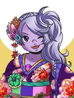 Amethyst in Kimono by Evelynism