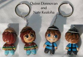 Quinn and Nate Keychains by KingMelissa