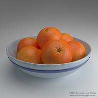 Fruit Bowl - A procedural orange skin study by JuanJoseTorres