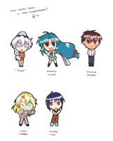 Full Metal Panic Chibis by Kelsea-Chan
