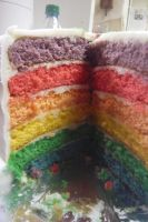 Rainbow Cake by arashkya