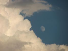 Moon and Clouds by PrettyinPastels