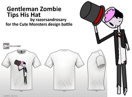 Gentleman Zombie Tips His Hat by razorsandrosary