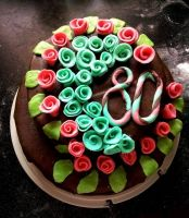 Cake in English Style for my grandmother :) by OldCook