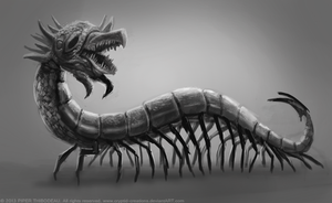 DAY 271. Centipede Monster by Cryptid-Creations