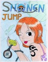 Shonen Jump Nami by Chick-with-a-pencil