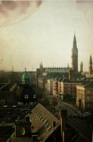View over Copenhagen by Princisco