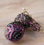 Shimmering Purple - glass, sterling silver by cserpentDesigns