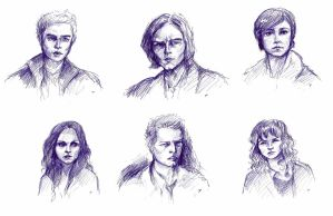 SPN characters sketches by Krepf