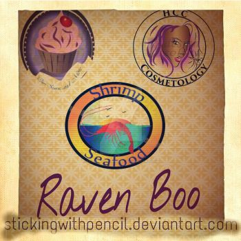 Raven Boo Design by stickingwithpencil