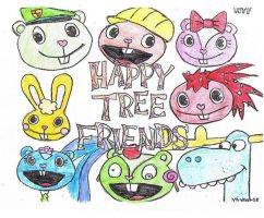 Happy Tree Friends-colored by LeahEvilSoldier