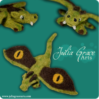 Lesser Earth Dragon - Wool Sculpture - Details by JuliaGraceArts