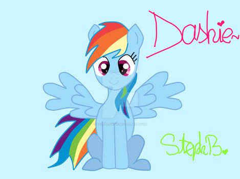 Sorry for the Lack of Art, So Here, Have a Dashie by Stephaniffic