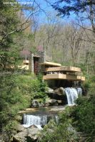 Fallingwater in Spring by GlassHouse-1