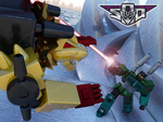 Art for Razorclaw vs Onslaught by Tf-SeedsOfDeception