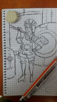 Cattlepunk Wrench Wench by ConscriptDavid
