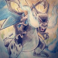 Mega Charizard X by ArtzxGeek