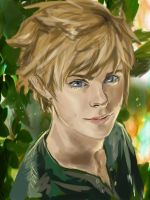 Peter Pan realistic sketch by ab-lynx