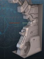 Sci-Fi Hallway Support by d1v