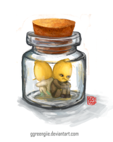 Lemons in a jar by Ggreengiie