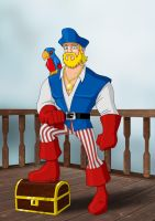 Pirate Captain America by payno0