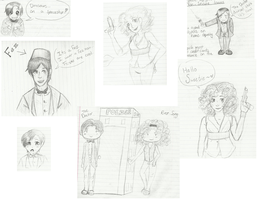 The Doctor and River Song sketches by GeeKy-AfAkAsi-NiNjA