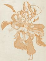 Sword Dancer Irelia Sketch by birdy767