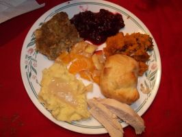 My Thanksgiving Food :D by BaylieWolf