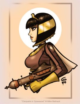 Cleopatra in Spaaaace pinup by grantgoboom