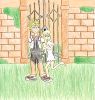 Roxas and Namine - Embarrassed by kookiekween99