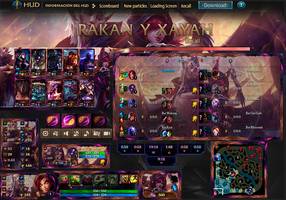 League Of Legends Hud  Rakan Y Xayah by JoylockDesigner