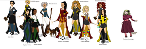 Young Female Hogwarts Profs by CatrionaMalfoy