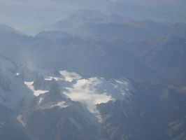 Alps from the Plane2 by RadishStick
