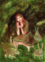 The Girl Who Lived Among Rabbits by matildarose