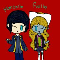 Marcello and Fiolla (request) by SophiaTheRose