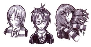 Harry Potter busts by saintpepsi