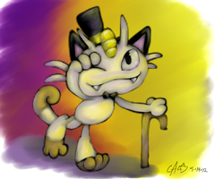Meowth thats Colored by CrazyIguana