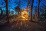 Firey orb in the woods by BusterBrownBB