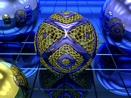 Dark Matter3 wireframe edition by fractalyst