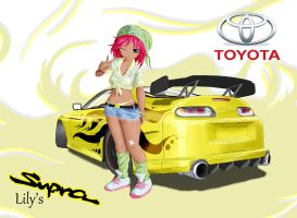 Lily and her Supra by Acdnoodles