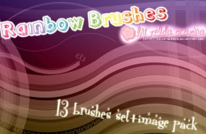 Rainbow Brushes by zelda-ocarina