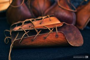 viking leather bracers by Oemich
