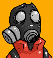 oh no pyro by GasMaskMonster