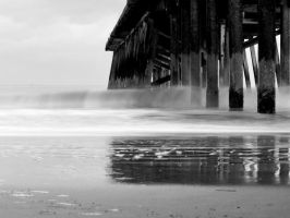 Black and White Misty shore. by chivt800